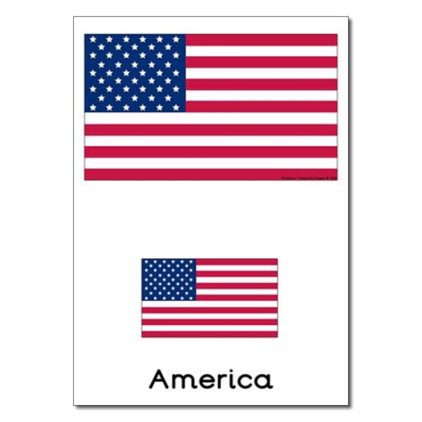printable american flag a4 american flag primary treasure chest