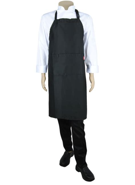 what to buy a chef stock bib apron with neck adjustor and pocket black