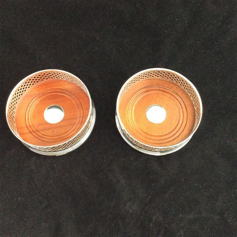 solid silver antiques atlas pair solid silver coasters 5 quot