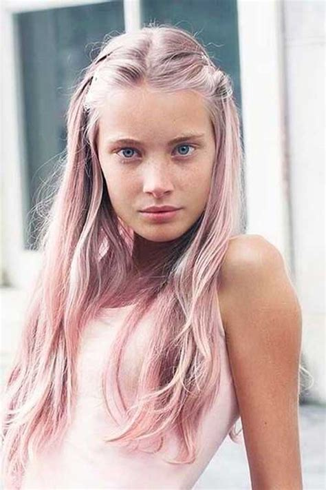 Bloude Dusty Pink 30 pink hairstyles ideas for this season