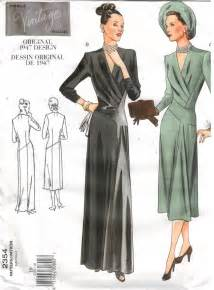 Pattern 2354 dress and gown from 1947 size 10 sewing pattern heaven