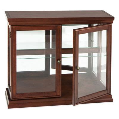 southern enterprises lighted corner curio cabinet in rich mahogany finish buy mahogany cabinets from bed bath beyond