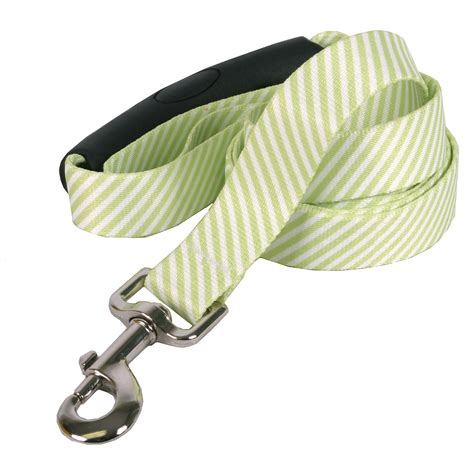 southern comfort handle southern dawg seersucker green ez grip dog leash by