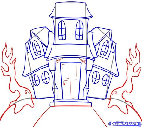 how to draw a haunted house how to draw a haunted house halloween pinterest