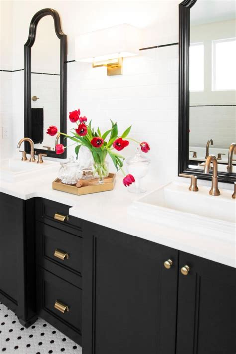 bathroom cabinet black the 25 best black and white master bathroom ideas on