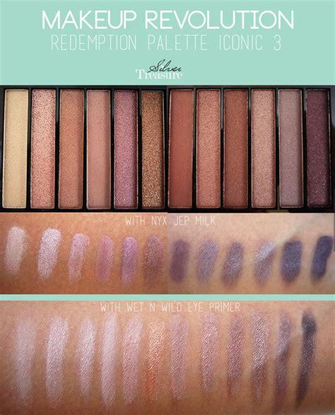 Eyeshadow Glitter Bagus makeup revolution redemption palette iconic 3 silver