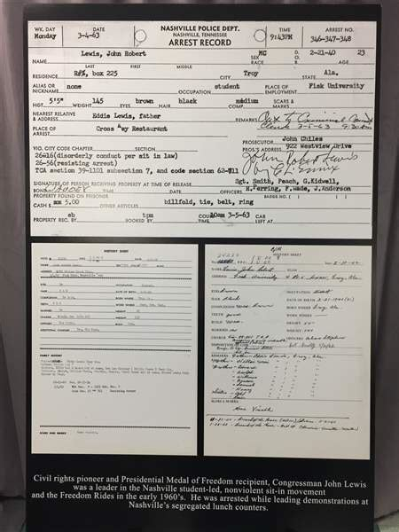 City Of Toledo Arrest Records Nashville Arrest Records Photos Of Civil Rights Icon Found The Blade