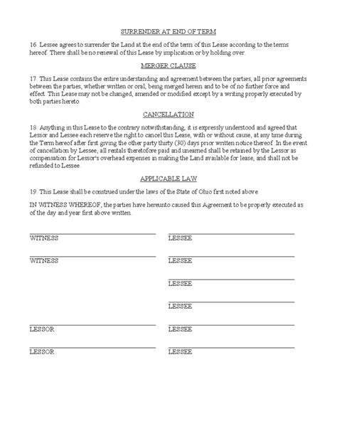 Hunting Rental And Lease Form Ohio Free Download Free Residential Lease Agreement Template Ohio