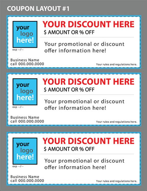coupon templates printable free custom coupon templates for your business on behance