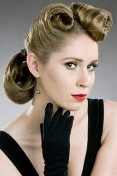 updos for medium length hair from the 1950 s 1950s hairstyles for long hair