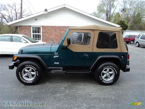 jeep sport green 1997 jeep wrangler sport 4x4 in emerald green pearl