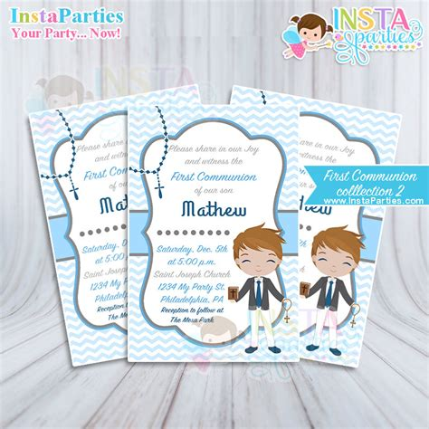 Communion Cards For Boys