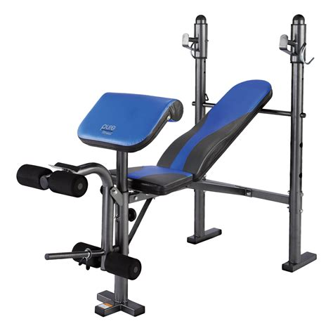 weight benche pure fitness multi purpose adjustable mid width weight bench with leg developer