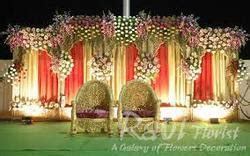 stage flower decoration services  india