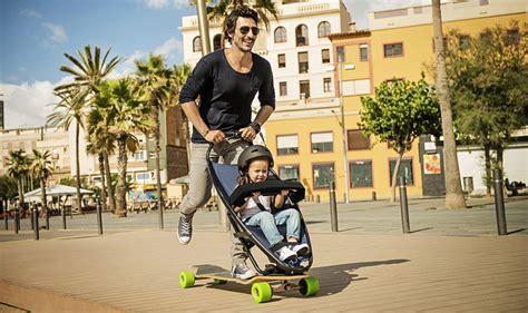 designboom quinny longboard stroller lets both kids and their parents have