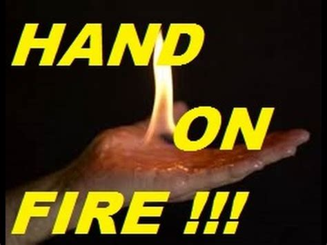 how to light your hand on fire how to light your hand on fire epic trick to show