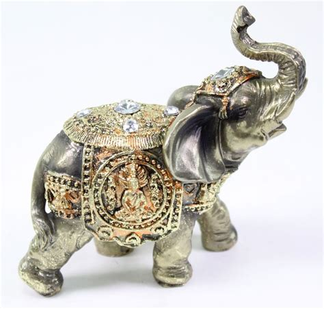 feng shui bronze elephant trunk statue wealth lucky