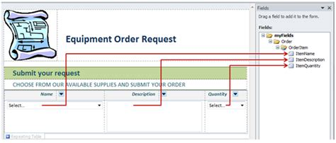 equipment request form template introduction to programming in infopath 2010 microsoft