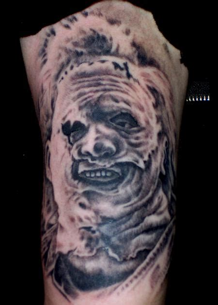leatherface tattoo leatherface by peters tattoonow
