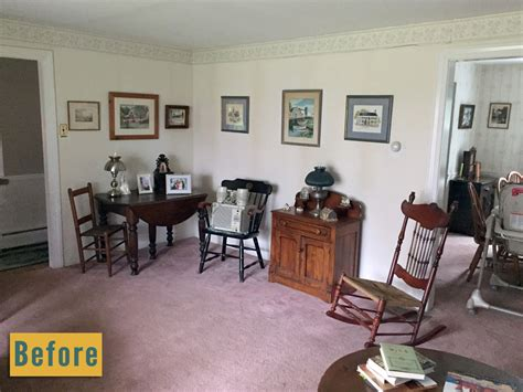 before the living room is rather long and narrow the fireplace dining and living room makeover 10 day diy renovation