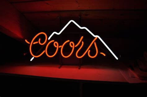 vintage coors light neon sign coors sign vintage shop collectibles daily