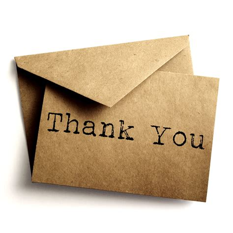 the thank you note guest kindness