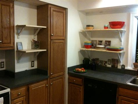kitchen shelves vs cabinets diy cabinets vs open kitchen shelving merrypad