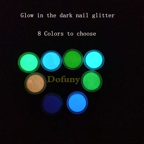 glow in the pigment powder made for acrylic paints neon phosphor nail glitters glow in the acrylic