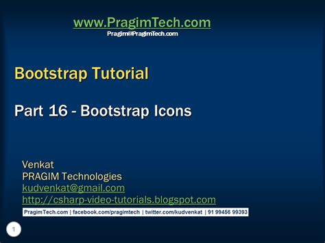 Bootstrap Tutorial Icons | sql server net and c video tutorial bootstrap icons