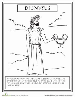 gods colouring book lyrics chords gods dionysus worksheet education