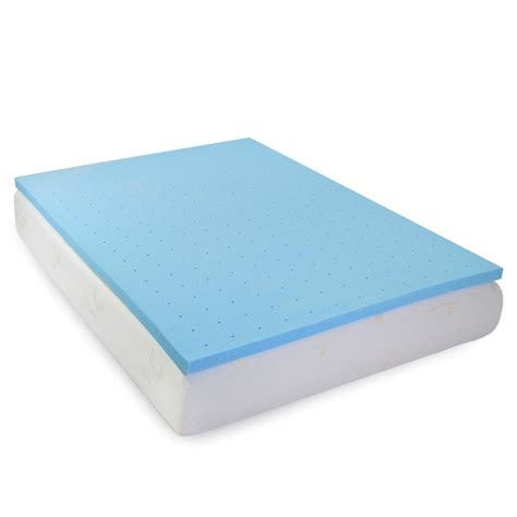 Cooling Gel Mattress Topper Reviews by Memory Foam Cooling Gel Topper Milliard Bedding