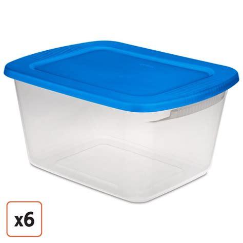 plastic storage containers sterilite 60 quart stackable storage bin clear plastic