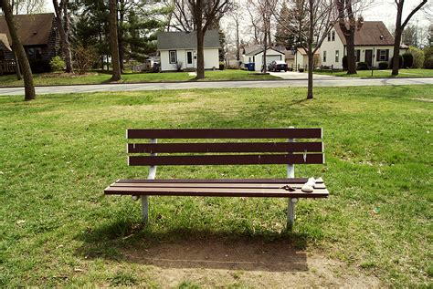 a park bench park bench bookfield bulletin