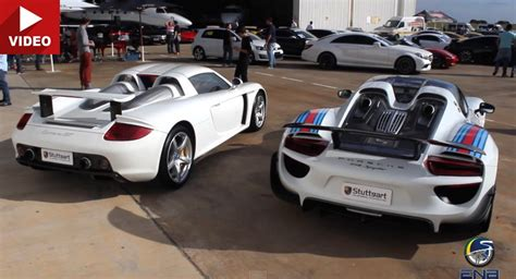 Porsche Gt Preis by Past Vs Present Porsche Carrera Gt Takes On 918 Spyder