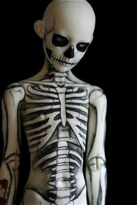 skeleton boy body paint cool stuff and art pinterest
