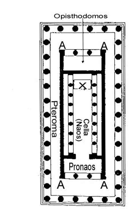 greek temple floor plan typical greek temple plan