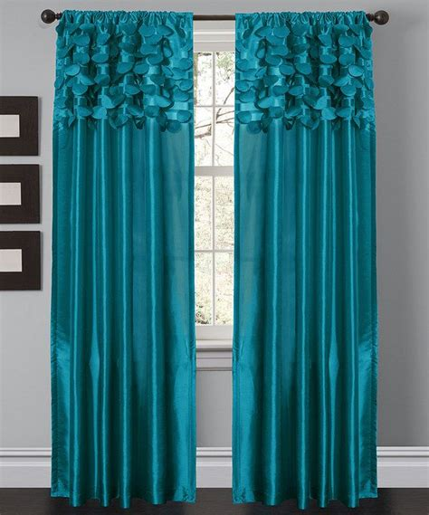 Turquoise Circle Curtain Panel Set Of Two