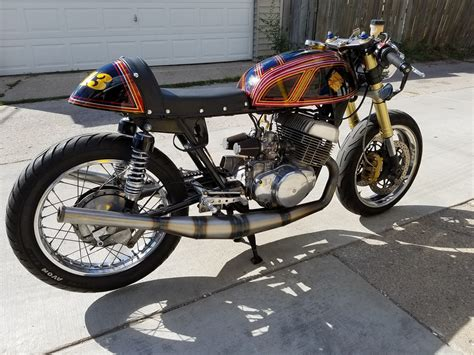 suzuki t 500 suzuki t500 cafe racer by motorcycle mania chicago bikebound