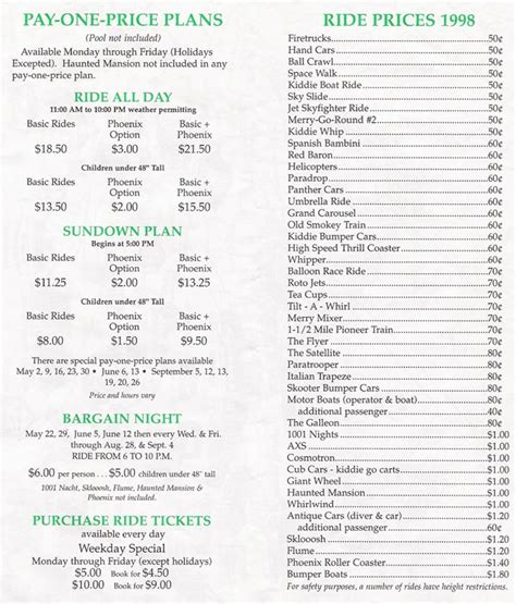 theme park list of theme park brochures knoebels amusement resort price