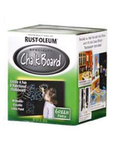 rust oleum 174 specialty green chalk board paint 1 qt at menards 174