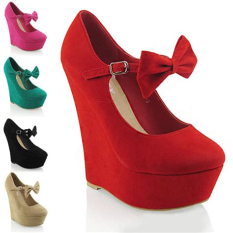 shoes shoes bows bow shoes heels wedges