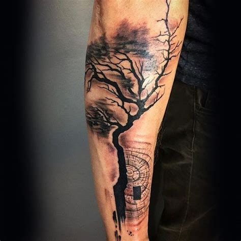 abstract tattoo for men abstract forearm guys tree tattoos tattoos