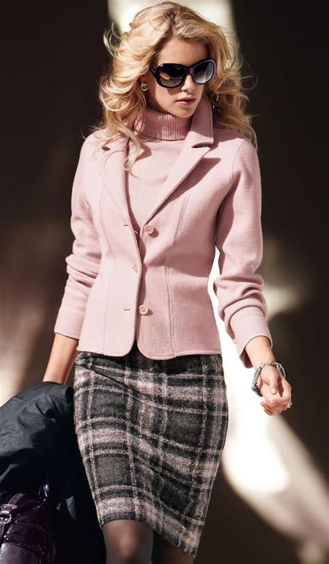 the pink and grey look nice with the paint color eden s classic work outfit ideas for women 2018