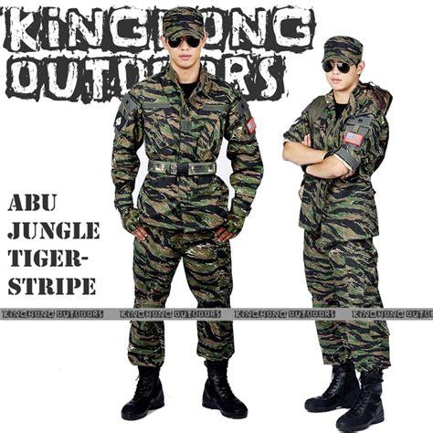 Seragam Airsoft Abu Tru Spec Jungle Tiger Stripe Camouflage Suit Sets Army