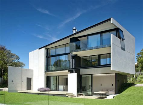 Precast Concrete Walls House In New Zealand Modern House Designs