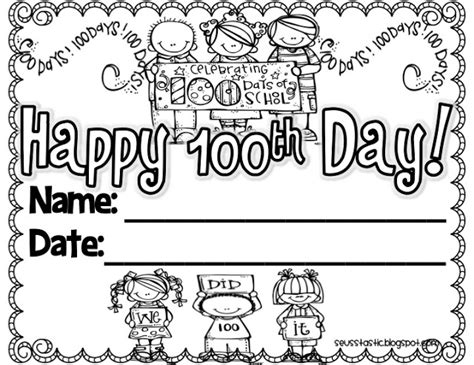 Best Free 100th Day Of School Printable Activities And 100th Day Of School Coloring Pages