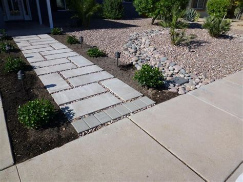 contemporary landscape and yard with exterior tile floors