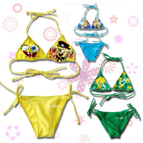 cute pattern swimsuit 2015 new summer children s fashion cartoon bikini