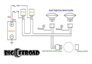 Car Headlight Circuit Diagram Headlight Relay Undead Sleds Rods Rat Rods