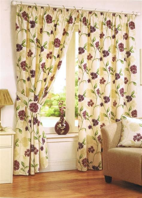lilac floral curtains cream lilac floral bouquet 90 quot x 54 quot heavy quality tape